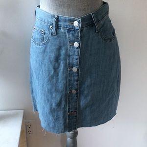 GAP Button Up Denim Mini Skirt